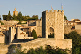 Romanesque bridge at Besalu, Girona, Catalonia (Spain)