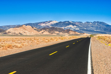 Death Valley Rd - the road to Death Valley from Baker, Californi