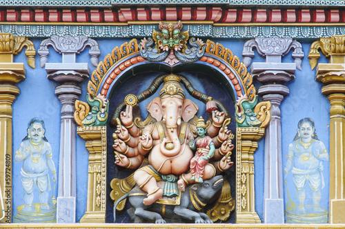 canvas print picture Ganesha, Minakshi-Tempel in Madurai, Indien