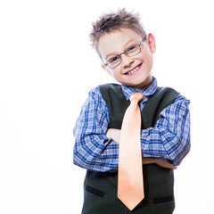 Photo of adorable young happy boy