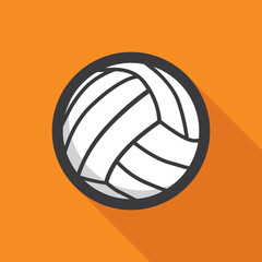 Volleyball ball retro poster