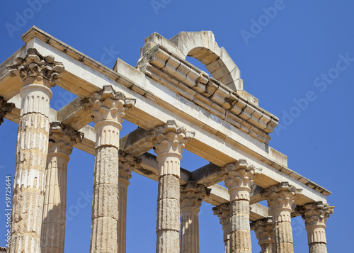 Diana's temple in ancient city of Emerita Augusta.Merida,Spain.