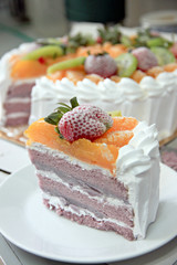 Ice Cream fruit cake.