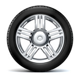 3d tire and alloy wheel