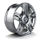 Fototapety 3d alloy wheel