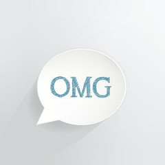 OMG Speech Bubble Sign