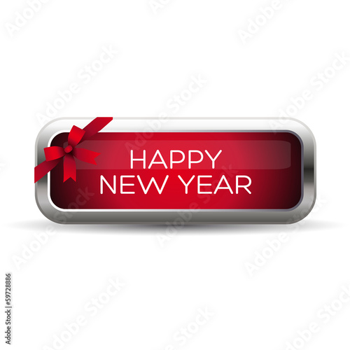 Happy new year label