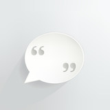 Quotations Speech Bubble Sign