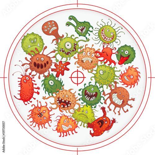 Germs and bacteria at gunpoint - 59730057