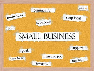 Small Business Corkboard Word Concept