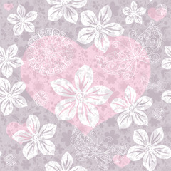Seamless gentle valentine pattern