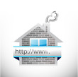 real estate home and online search bar
