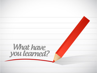what have you learned message illustration