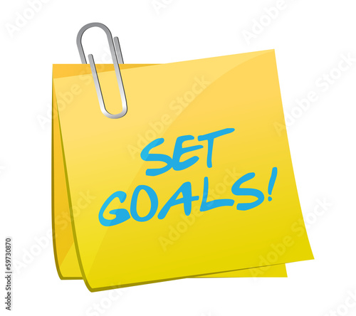 set goals post illustration design