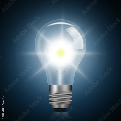 Light bulb illuminated,