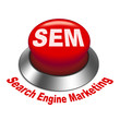 3d illustration of sem ( Search Engine Marketing ) button