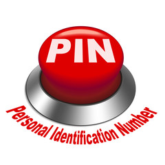 3d illustration of PIN ( Personal identification number) button