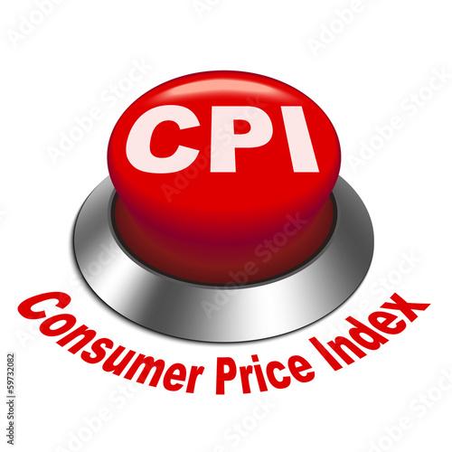 3d illustration of CPI ( Consumer Price Index ) button