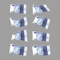 Twenty euros. Vector format