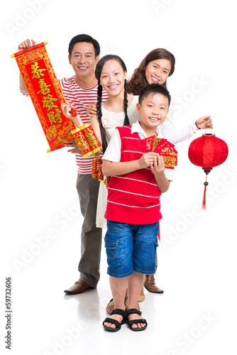 Cheerful Family on Tet