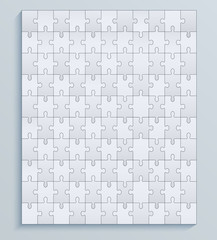 Parts puzzles, seamless vector pattern jigsaw