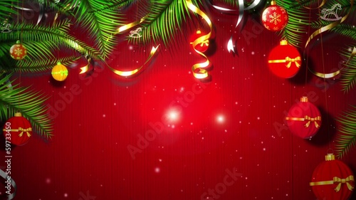 Footage background high definition - Christmas balls