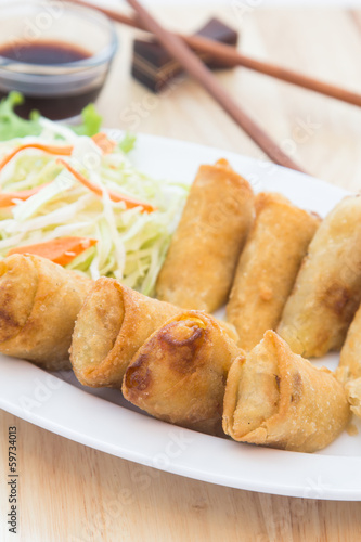 spring rolls fried