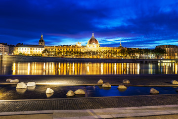 Lyon by blue hour