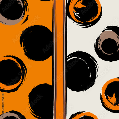 seamless background pattern, with circles and strokes