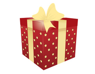 Vector illustration of gift box with star