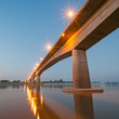 Bridge across the Mekong River. Thai-Lao friendship bridge, Thai