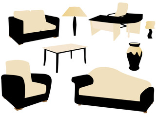 Vector illustration of furniture