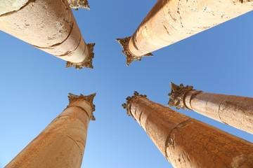 Roman Columns at Jerash, Jordan