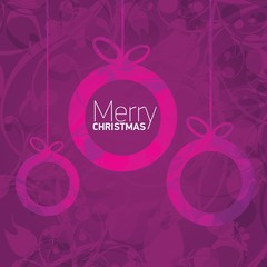 vector merry christmas decorative violet floral background.