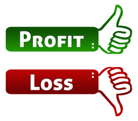 Profit and Loss Thumb Up Down