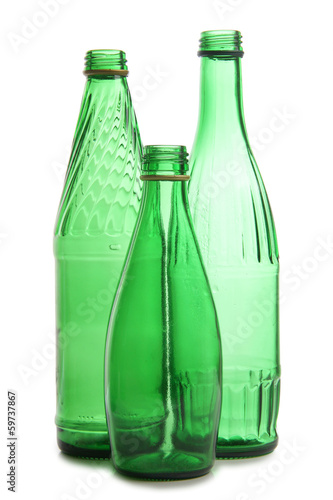 Green bottles for vine