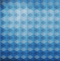 blue triangles hexagons vector geometric background with gradien