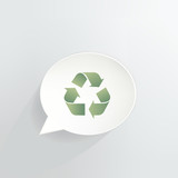 Recycle Speech Bubble Sign
