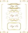 Calligraphic frame, border, label, design elements