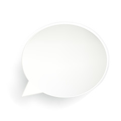 Speech Bubble On White