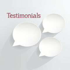 Tastimonials Speech Bubbles