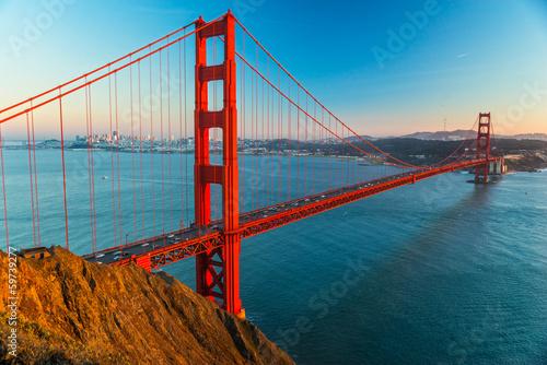 Plakát, Obraz Golden Gate, San Francisco, California, USA.