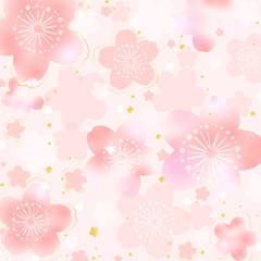 ぼかし桜背景