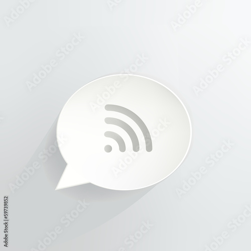 Wireless Signal Speech Bubble Sign
