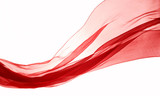 soft red chiffon with curve and wave