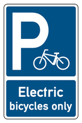 parking signs electric bicycles only bicycle-symbol