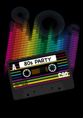 Vector 80s Party Background