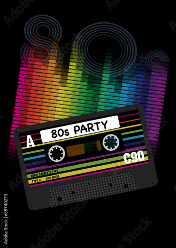 Vector 80s Party Background - 59740273