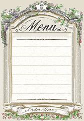 Vintage Graphic Page for Restaurant Menu
