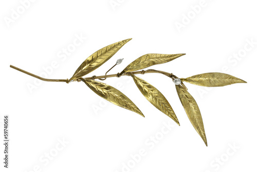 golden olive twig